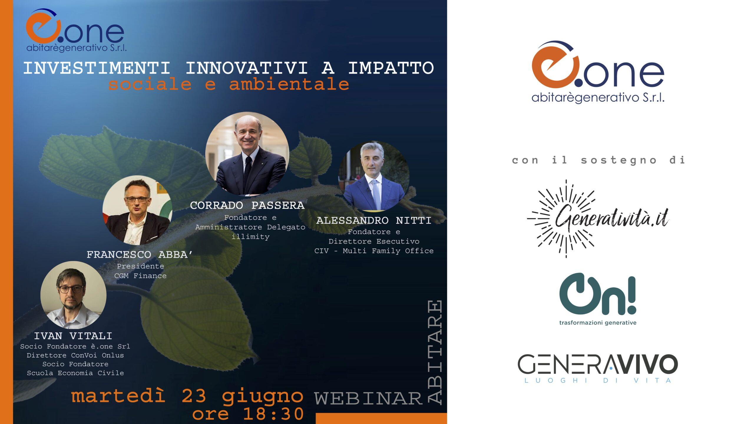 Investimenti innovativi a impatto sociale e ambientale